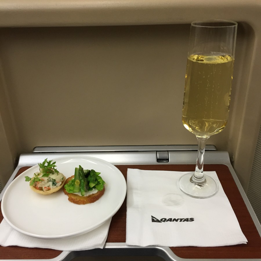 First class is basically just one giant food orgy.