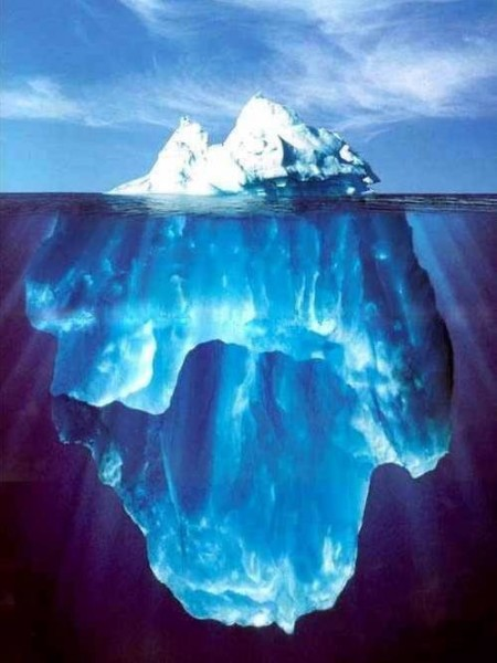 It can be pretty, but an iceberg is an iceberg.